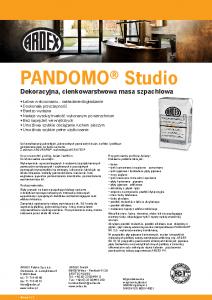 PANDOMO Studio