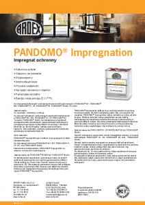 PANDOMO Impregnation